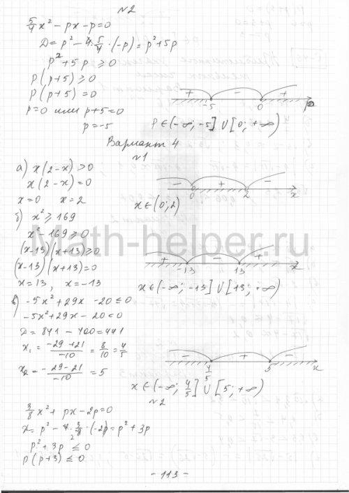 Решебник к сборнику самостоятельных работ по алгебре 8 класс александровой
