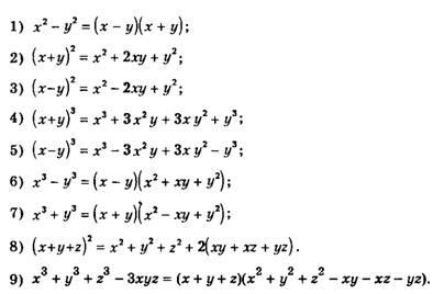 Формулы сокращенного умножения Математический помощник Часто их применяют читая не слева направо а справа налево Приведем примеры на использование формул сокращенного умножения