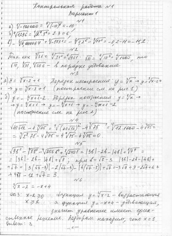 решебники контрольных работ по алгебре 11 класс глизбург